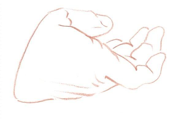 Offrande de la main dessin de main qui tient un coeur - Dessin de la main ...